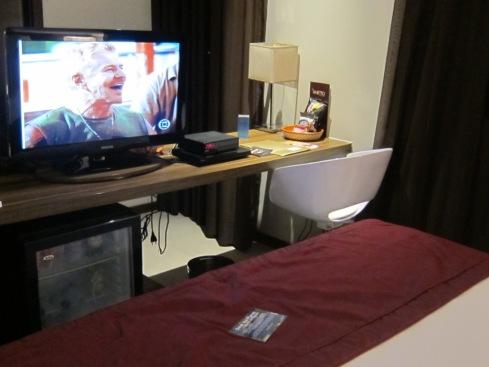 TV de LCD, frigobar e wi-fi gratuito