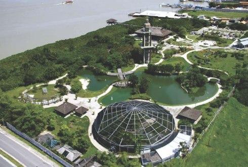 Vista aérea do Parque Mangal das Garças