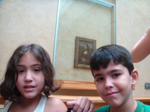 Conhecendo a Monalisa, no Louvre!