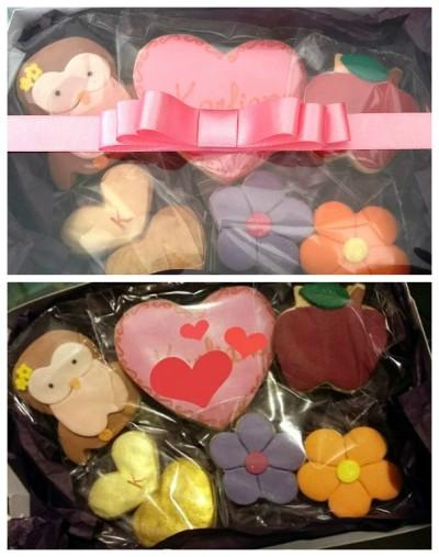 Caixa com 06 biscoitos decorados e personalizado (R$ 30,00)